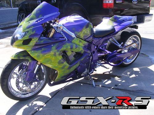 2007 GSXR 750 Blue Flames