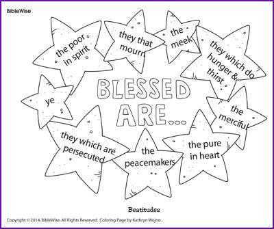 "Coloring (Beatitudes ""Blessed Are.."") - Kids Korner - BibleWise"