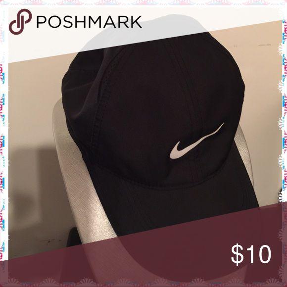 Black Nike Cap Nice Nike black cap. Feather light. Dri-Fit. Adjustable strap in back (Velcro) Nike Accessories Hats