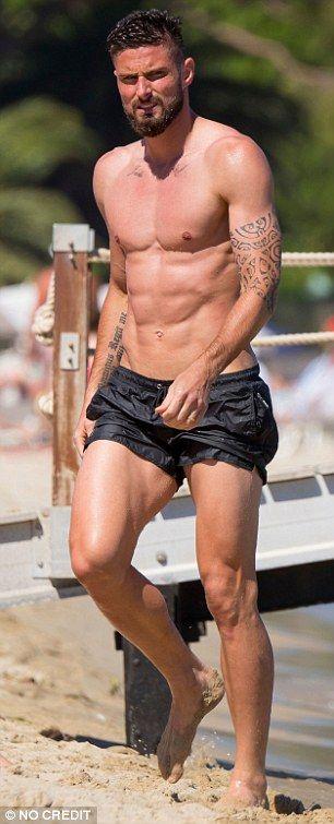 Olivier Giroud's stunning wife Jennifer wows in a peach bikini
