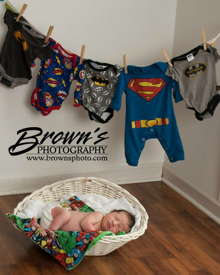 Like us on facebook at www.facebook.com/... to see more great images! #newbornphotography #superhero #batman #superman