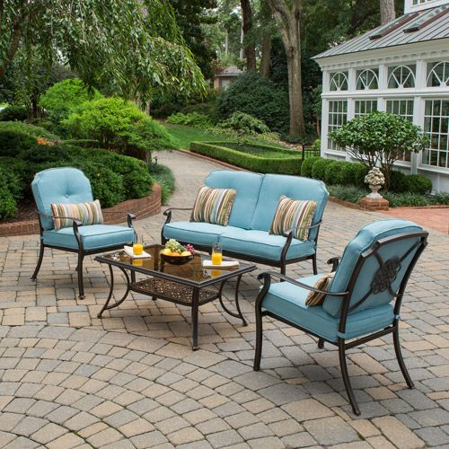 Better Homes and Gardens Bellerive Park 4 Piece Patio Conversation Set Seats