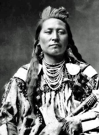 Plenty Coups (Aleek-chea-ahoosh) (1848-1932) was a Crow chief and visionary leader. (Wikipedia) - No date / photographer unidentified.