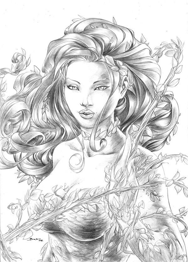Poison Ivy by boscopenciller on @DeviantArt