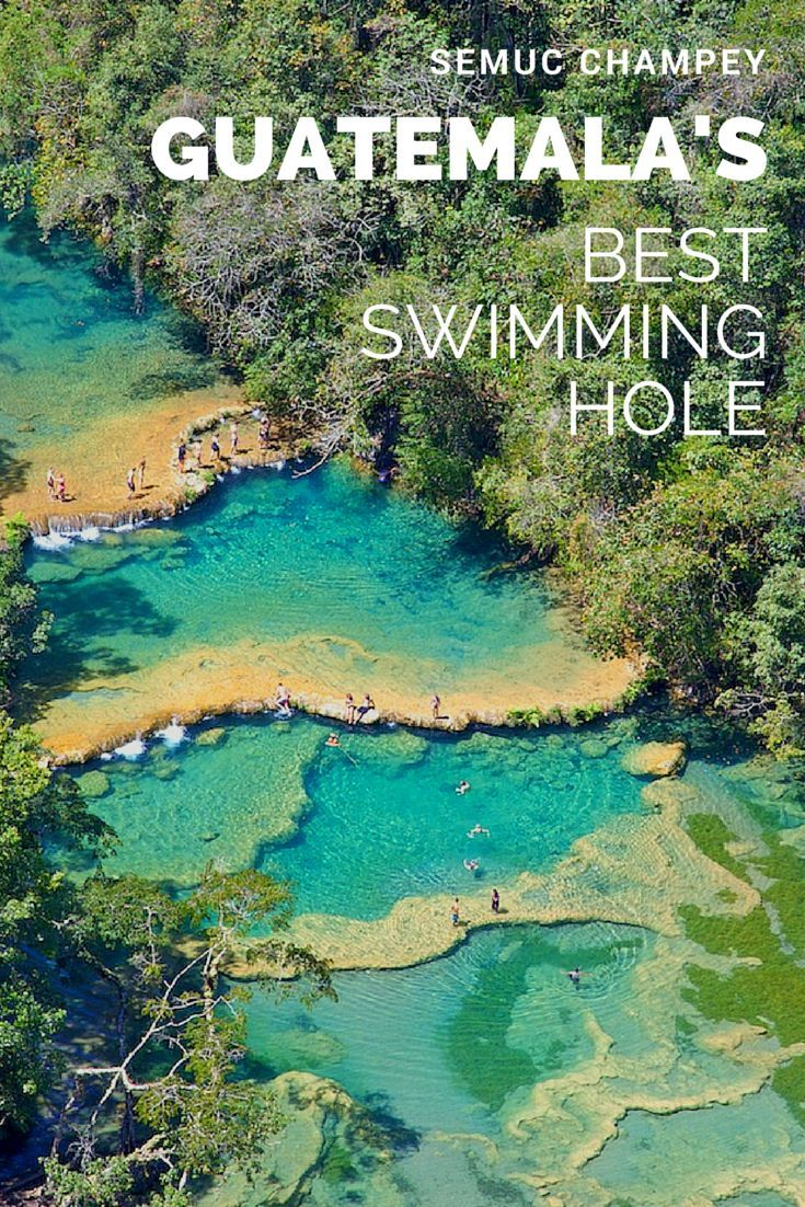 The limestone pools at Guatemala's Semuc Champey are some of the best in all of Central America. Yes please!