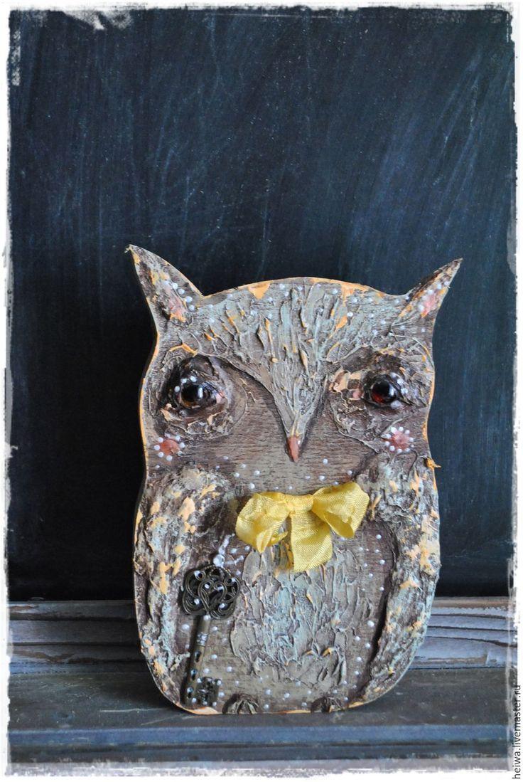 Купить Совушки - тёмно-бирюзовый, совушки, совушка, сова, игрушка, на стол, на…