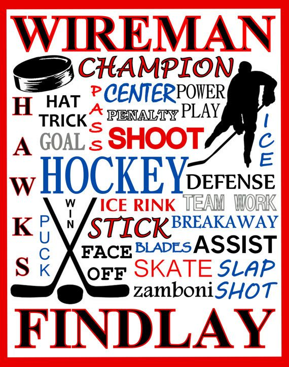 Hockey Print  hockey team gift  hockey poster  by PinksPerfections Custom Hockey Poster Custom Sports Poster  Have a sports poster you need made. I can make it for you here. Only $5 for first and $3 for any  more of the same.