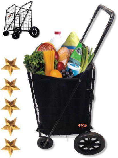 MegaCart Fold-Up Collapsible Folding Grocery Laundry Shopping Utility Cart