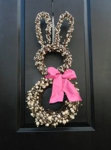 Whimsical Bunny Wreath - 40 Creative DIY Easter Wreath Ideas to Beautify Your Home