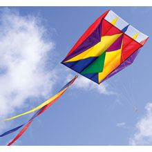 A summer favorite...flying kites! Add a gust of wind to fill up the parafoil's cells, and watch the rainbow colors FLY! With no sticks to break, this unique kite rolls up to fit inside a small, nylon bag that's easy to carry and store-take it anywhere for spontaneous flying fun! The Rainbow Parafoil Kite is made from rip-stop nylon.  Recommended Ages: Ages 8 and up