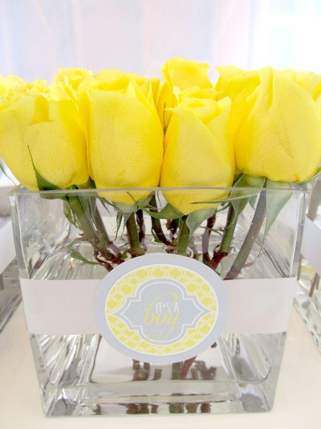 yellow and white baby shower | Customer Parties:: A Yellow and Gray Modern Baby Shower | Love The Day