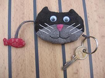 Kitten key cover Idée porte-clé chat : patron et couture faciles à réaliser soi-même