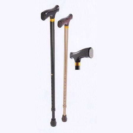 Gehstock aus Aluminium, höhenverstellbar, schwarz / walking stick