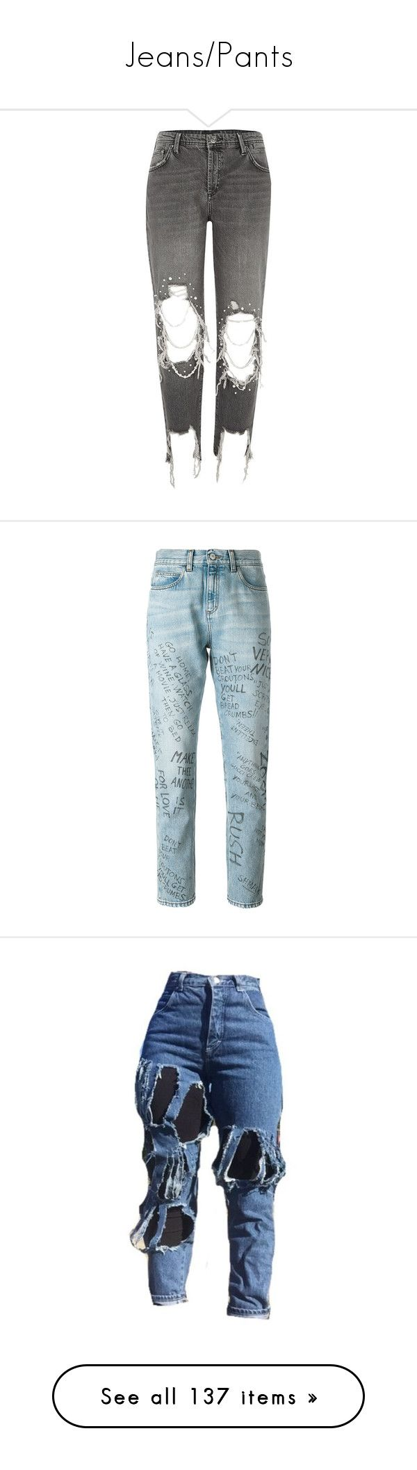 """Jeans/Pants"" by baaby-dooll ❤ liked on Polyvore featuring jeans, pants, bottoms, pants and leggings, black, boyfriend / slouch jeans, women, boyfriend fit jeans, tall boyfriend jeans and embellished jeans"