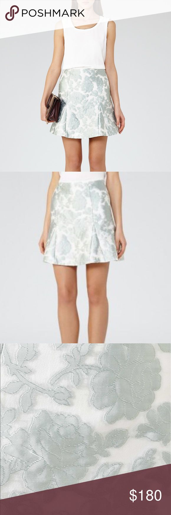 NWT REISS London Tulip Skirt Brand new and absolutely beautiful. Silver/light blue details. Reiss Skirts