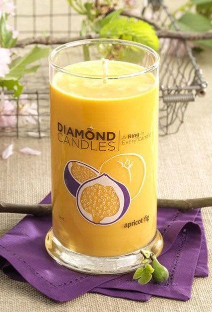 Nothing like a fragrant candle to cozy up with on a cold night. Enjoy fresh scents that can take you to faraway beaches and seasons past. With Diamond Candles, you'll enjoy drifting away on these scents while uncovering a surprise ring hidden inside. Rings can be worth up to $5,000!
