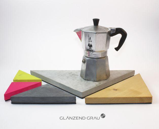 Geometrisches Untersetzer-Set // Geometrical coaster set by glänzend Grau via DaWanda.com