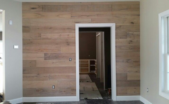 European Oak accent wall
