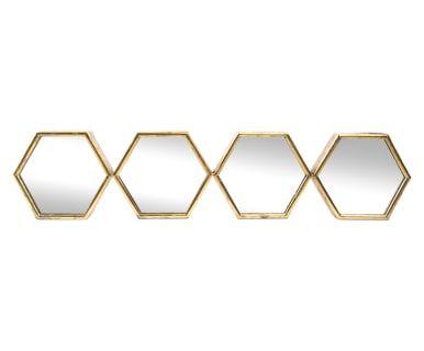 Miroir HELENA, doré - L105