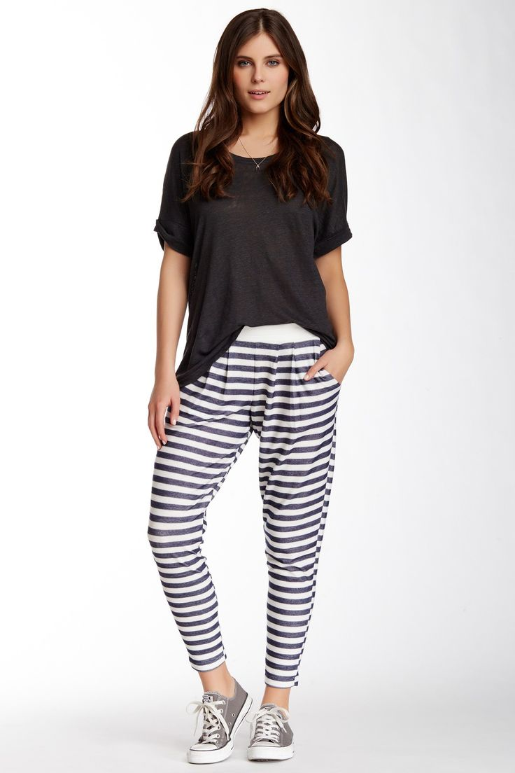 H.I.P. | Knit Striped Soft Pant | Cozy