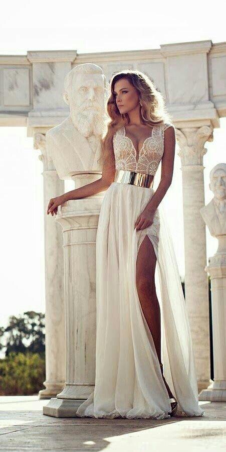 Goddess style wedding dresses pinterest for Goddess style wedding dresses