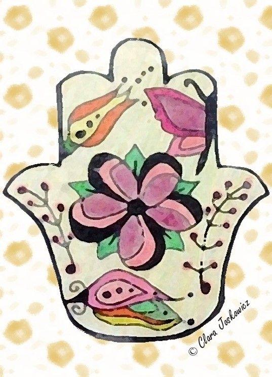 Hamsa con Flores