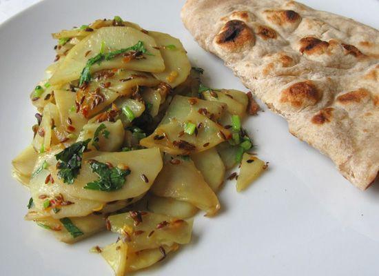 Aloo ki Bhujia, Cumin-Spiced Potatoes, in the Pakistani Manner ...  I haven't had these since my Israeli days ... yep, gonna make sure my ChefBoyRDee gets this recipe!