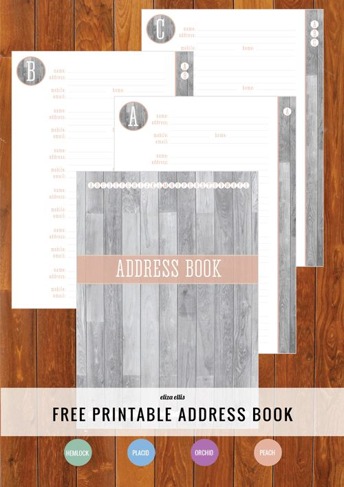 Free Printable Address Book - how's your Home Organizer going so far? #freeprintable #organizing #addressbook