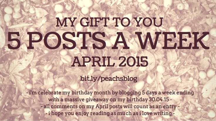 my gift to you - To celebrate my bday month I'm blogging 5 days a week in April ending with a giveaway on my bday, April 30.  Every comment on my April posts will count as an entry into the giveaway!