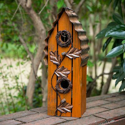 Easy To Install And Clean The Top Of The Birdhouse Has A Ring For Hanging To Hang The Birdhouse Simply Att Bird Houses Decorative Bird Houses Wooden Flowers