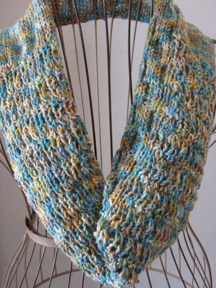 Turquoise V Cowl My Knitting Patterns Knitting