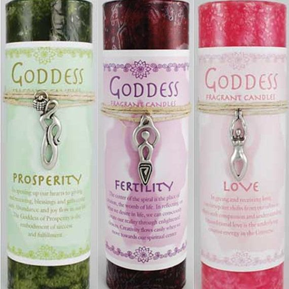 Goddess of Fertility Spell Candle with Silver by FeralGrimoires