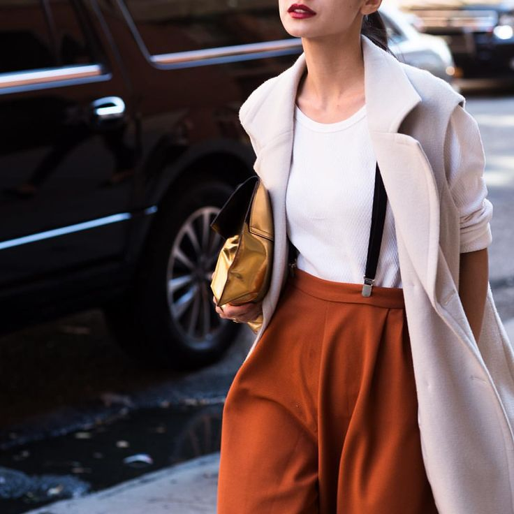 Definitely one of favorite looks I spotted during #nyfw.
