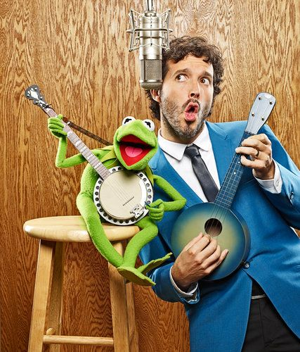 Bret McKenzie and Kermit the Frog. I'm in love with a muppety man, or is he a manly muppet?