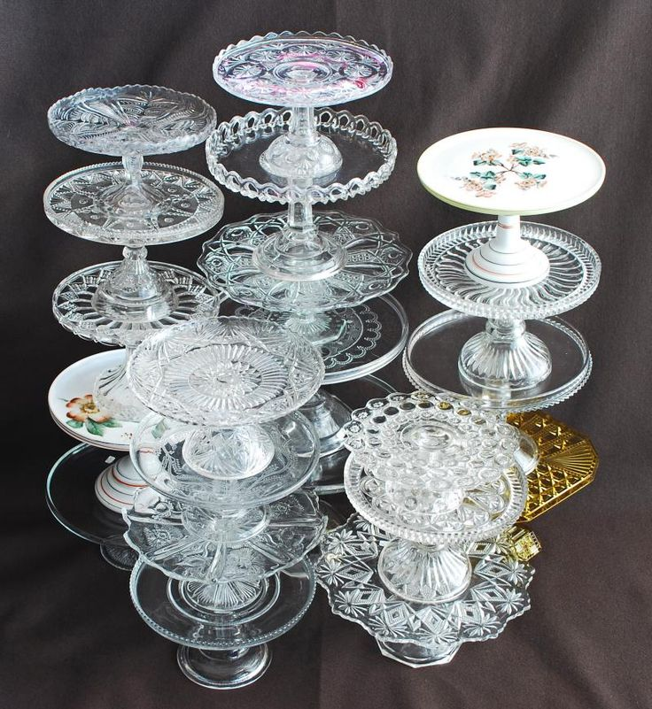 Pressed and pattern glass cake stands c.1880 - 1910.  No one needs to tell you what you can do with these.  Everyone wants them.  Cake stand collecting remains viable and alive even in the current depressed antique market.