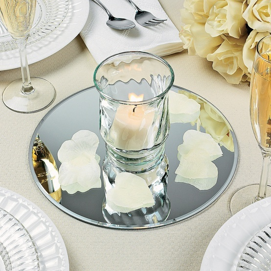 round table mirrors diy wedding centerpieces tablescapes wedding centerpieces mirror. Black Bedroom Furniture Sets. Home Design Ideas