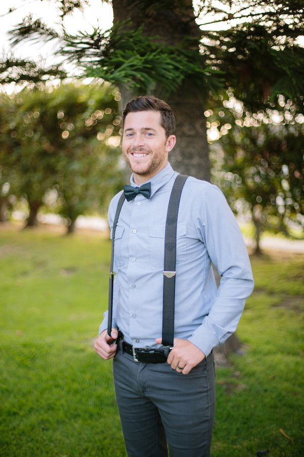 groom in suspenders and bow tie #hipstergroom #hipster http://www.weddingchicks.com/2013/11/19/hipster-bride-and-groom/