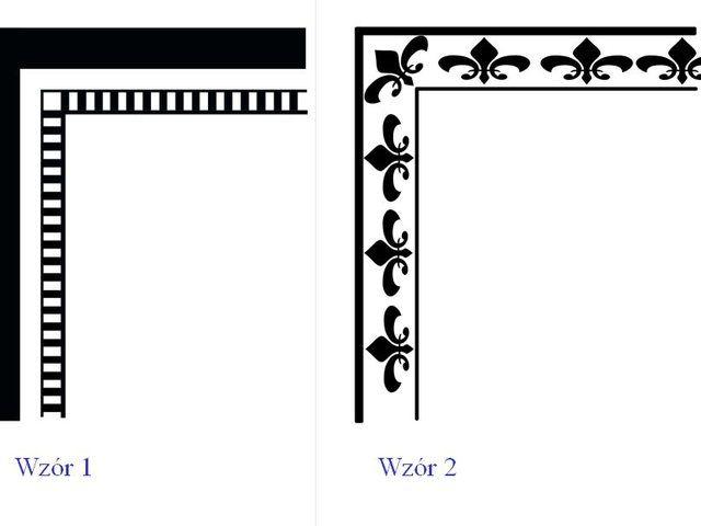 SZABLONY RAM do malowania i dekorowania ścian - POBIERZ za darmo