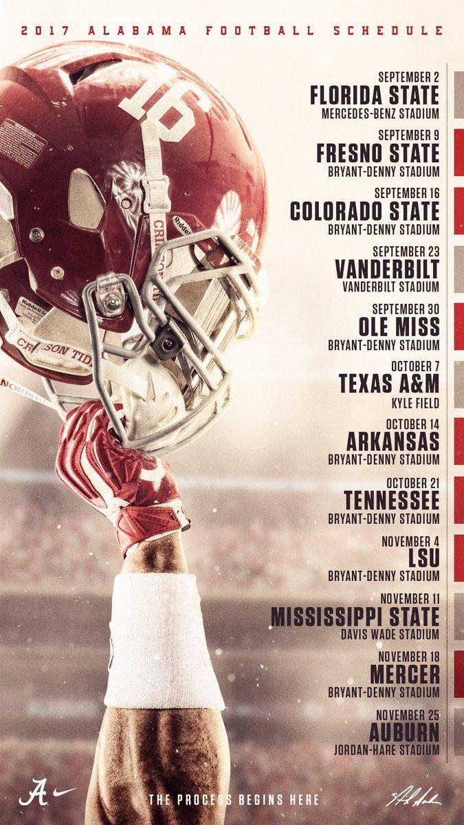 2017 Crimson Tide Football Schedule