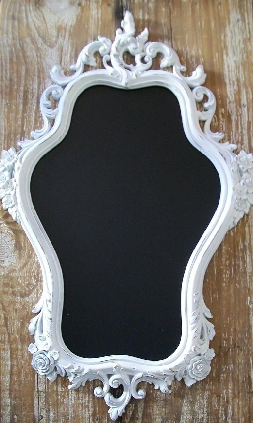 chalkboard - I always see thses mirrors/frames at the thrift stores!