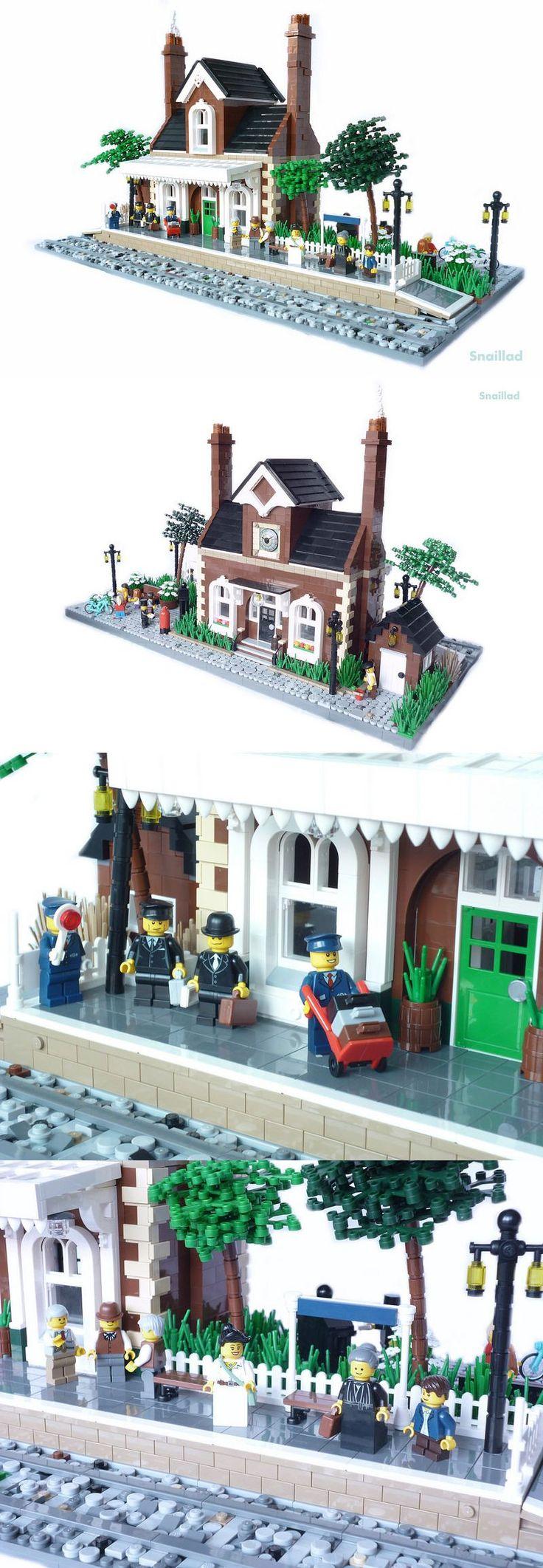 Studdington Station #LEGO #Train #Station