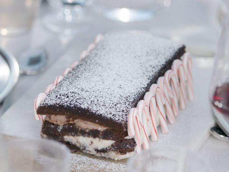 Black and White Brownie Ice Cream Cake recipe from Giada De Laurentiis via Food Network