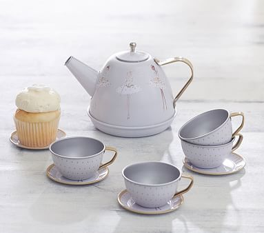 Mini Tin Tea Sets - Gray Ballerina