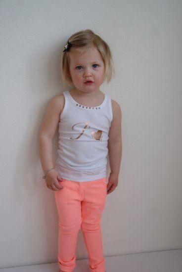 Quapi Kidswear broek Marion Peach zomercollectie 2014. Deze mooie broek in het oranje is van het merk #Quapi #Kidswear -lot en Lynn Lifestyle