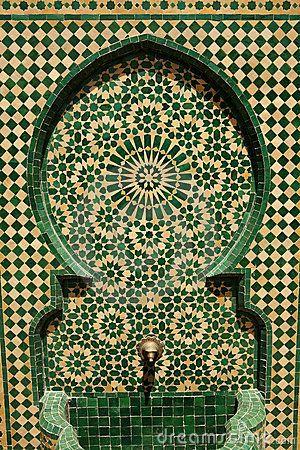 Fuente marroquí del mosaico