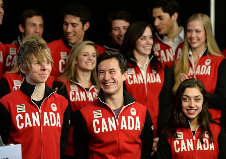 A look at Canada's Olympic figure skating team in Sochi. They won Silver!!!!!!