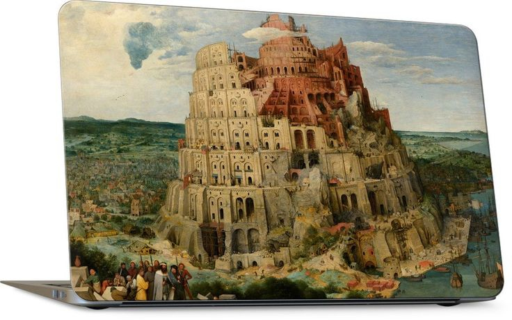 The Tower of Babel Laptop Skin