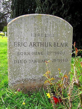 La tomba di George Orwell a Sutton Courtenay, Oxfordshire