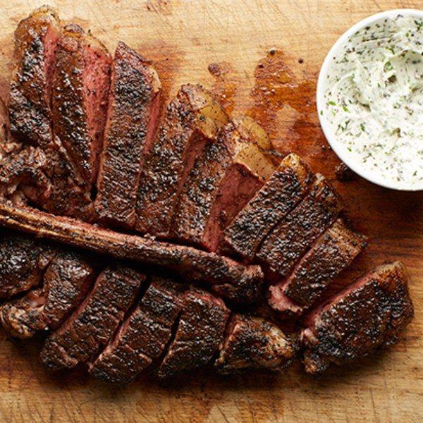 Porterhouse Steak with Herbed Butter recipe | Epicurious.com