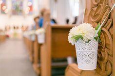 IKEA-Blumentöpfe für Kirchendeko...